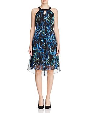 T Tahari Zadie Tropical Print Dress