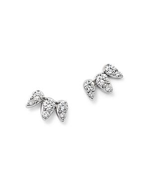 Diamond Teardrop Stud Earrings in 14K White Gold, .35 ct. t.w. - 100% Exclusive