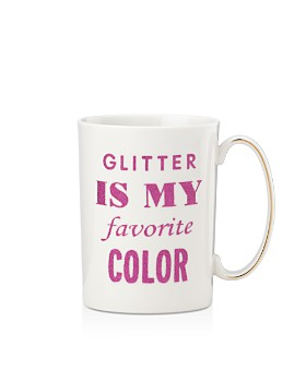 kate spade new york - Simply Sparkling Glitter is my Favorite Color Mug