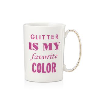 kate spade new york Simply Sparkling Glitter is my Favorite Color Mug