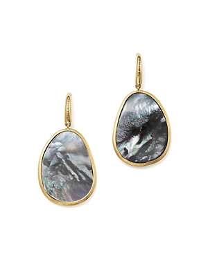 Marco Bicego 18K Yellow Gold Lunaria Black Mother-Of-Pearl Drop Earrings-Jewelry & Accessories