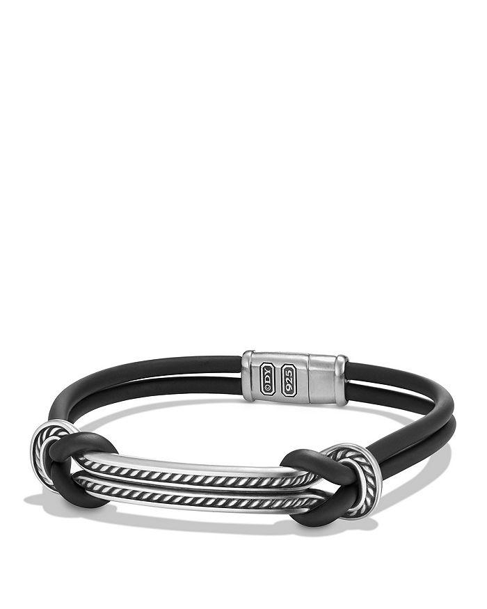 David Yurman - Maritime Rubber ID Bracelet in Black