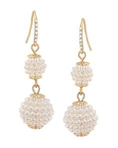 Carolee Simulated Pearl Double Drop Earrings - Bloomingdale's_0