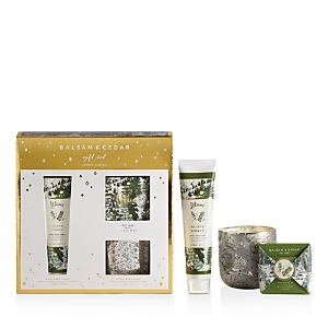 Illume Balsam & Cedar Novelty Votive, Hand Creme and Soap Set
