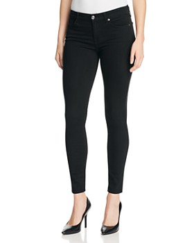 4188ec48 7 For All Mankind - b(air) Skinny Ankle Jeans in Black ...