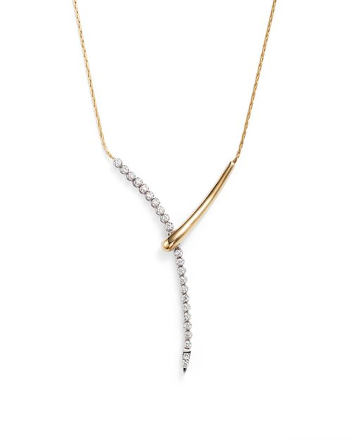 Bloomingdale's - Diamond Y Necklace in 14K Yellow and White Gold, .50 ct. t.w.- 100% Exclusive