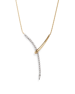 Diamond Y Necklace in 14K Yellow and White Gold, .50 ct. t.w. - 100% Exclusive