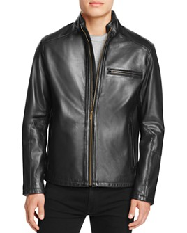 Cole Haan - Streamlined Moto Leather Jacket