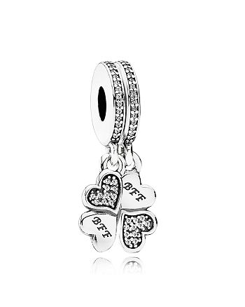 PANDORA - Charm - Sterling Silver & Cubic Zirconia Best Friends Forever, Moments Collection