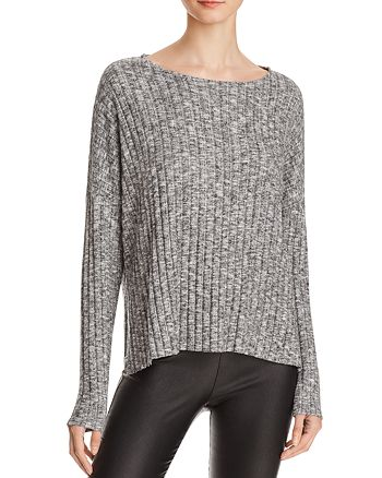Michelle by Comune - Ribbed Marled Knit Top