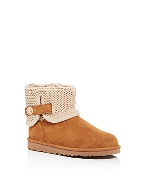 Ugg Girls Darrah Knit Trim Booties  Big Kid