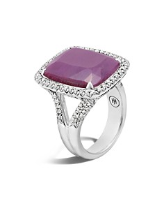 John Hardy Sterling Silver Classic Chain Magic Cut Indian Ruby Ring with Diamonds - Bloomingdale's_0