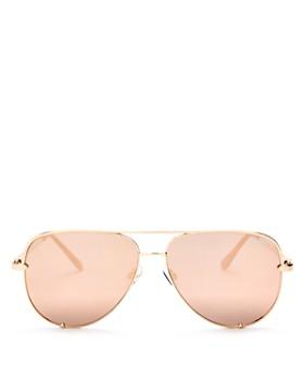 Quay - Women's High Key Mirrored Brow Bar Aviator Sunglasses, 56mm