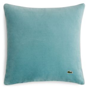 Lacoste Velvet & Brushed Twill Decorative Pillow, 18 x 18