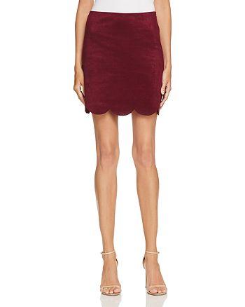 AQUA - Faux Suede Mini Skirt - 100% Exclusive