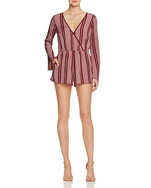 Band of Gypsies Striped Wrap Effect Romper - 100% Exclusive