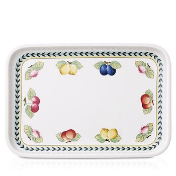 "Villeroy & Boch - French Garden Baking Rectangular 12.5"" Serving Plate/Lid"
