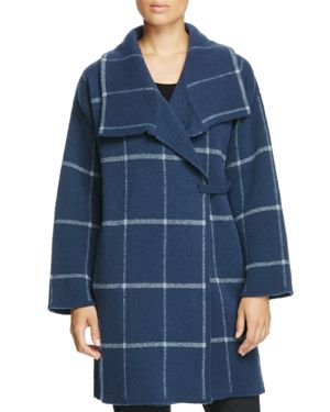 Armani Collezioni Windowpane Checked Coat