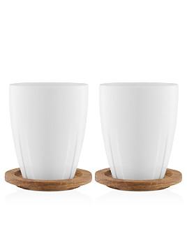 Kosta Boda - Bruk Mug With Lid, Set of 2