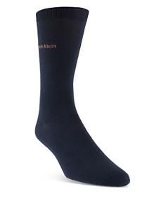 Calvin Klein - Giza Cotton Flat Knit Socks