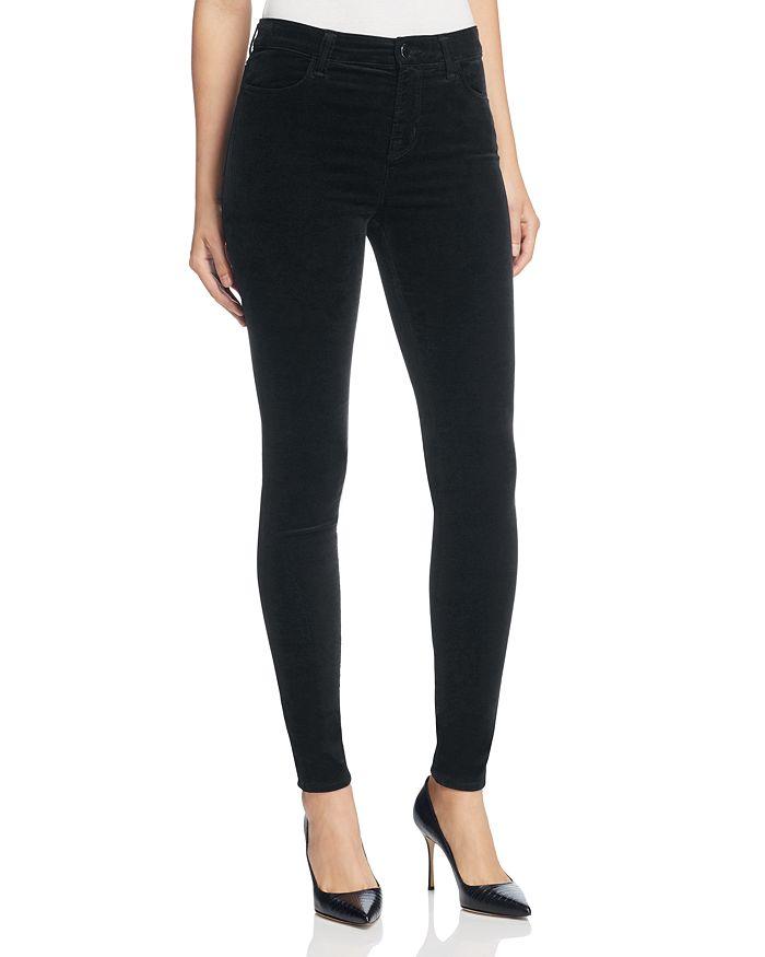 J Brand - Skinny Velvet Jeans in Black