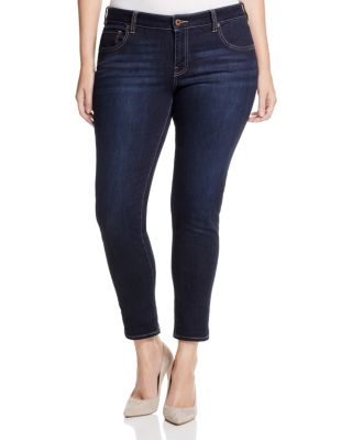 LUCKY BRAND PLUS Trendy Plus Size Ginger Navy Wash Skinny Jeans
