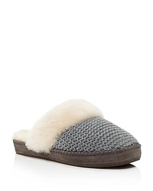 Ugg Aira Sheepskin Knit Slippers