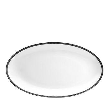 L'Objet - Soie Tressee Black Large Oval Platter