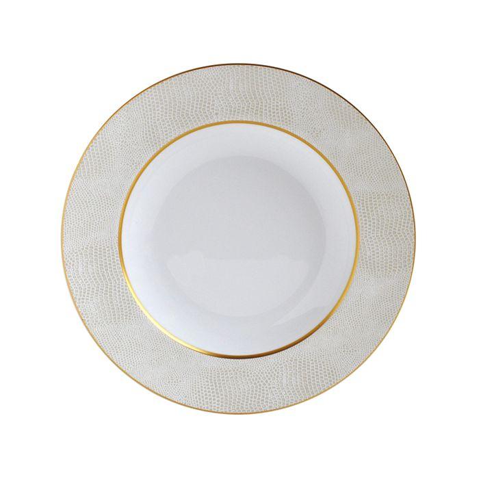 Bernardaud - Sauvage White Rim Soup Bowl