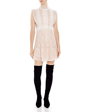 Sandro Peaches Lace Dress