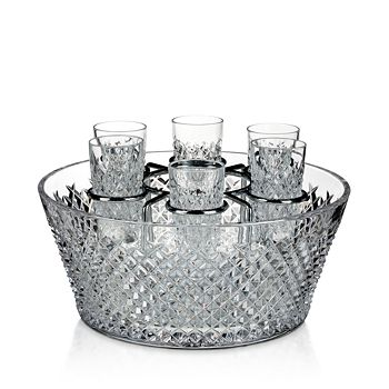 Waterford - House of  Crystal Alana 60th Anniversary Vodka Chiller Set