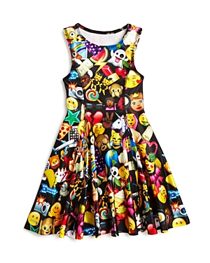 Terez Girls' Emoji Dress, Little Kid - 100% Exclusive