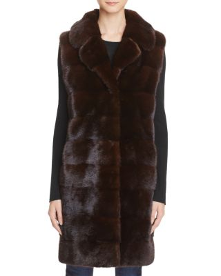 MINK FUR LONG VEST - 100% EXCLUSIVE