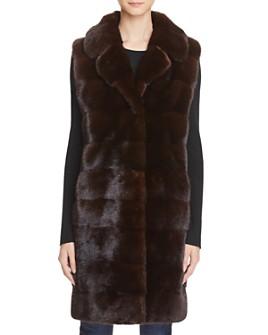 Maximilian Furs - Mink Fur Long Vest - 100% Exclusive