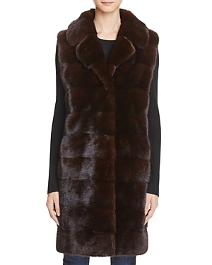 Maximilian Furs Mink Fur Long Vest - 100% Exclusive