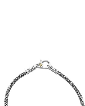 LAGOS - 18K Gold and Sterling Silver Luna Rope Bracelets with Cultured Freshwater Pearls