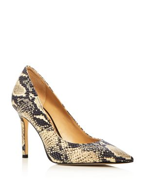 Sam Edelman Hazel Snake-Embossed Pointed Toe Pumps