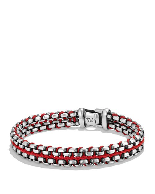 David Yurman - Woven Box Chain Bracelet in Red
