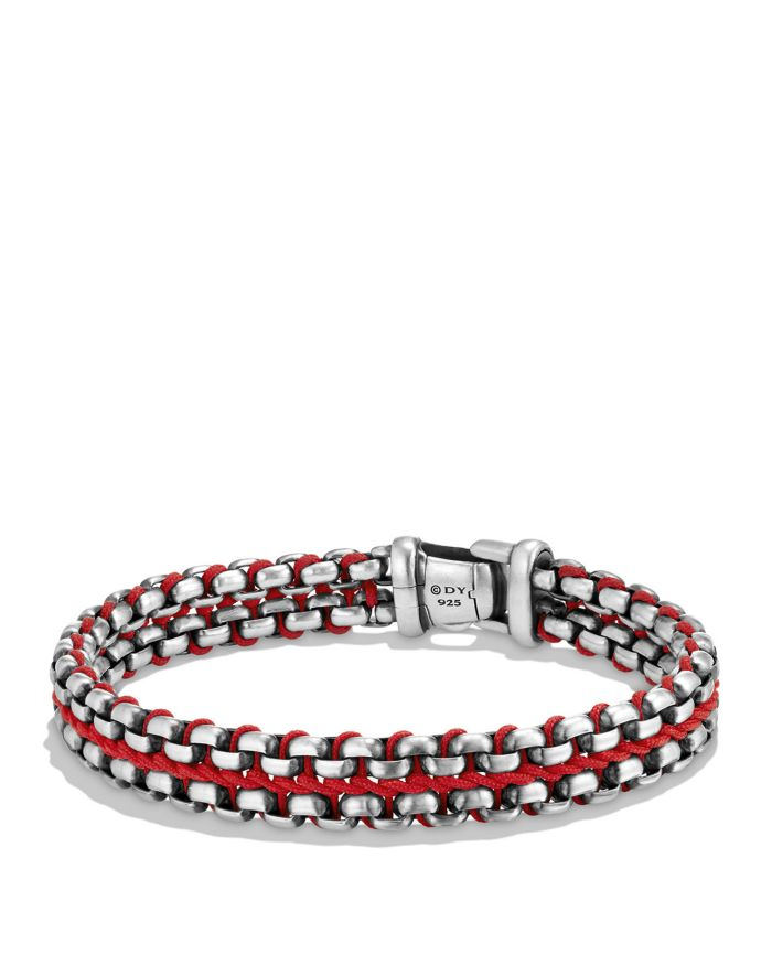 David Yurman Woven Box Chain Bracelet in Red     Bloomingdale's