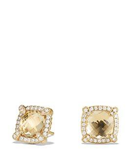 David Yurman - Châtelaine Pavé Bezel Stud Earrings with Gemstones & Diamonds