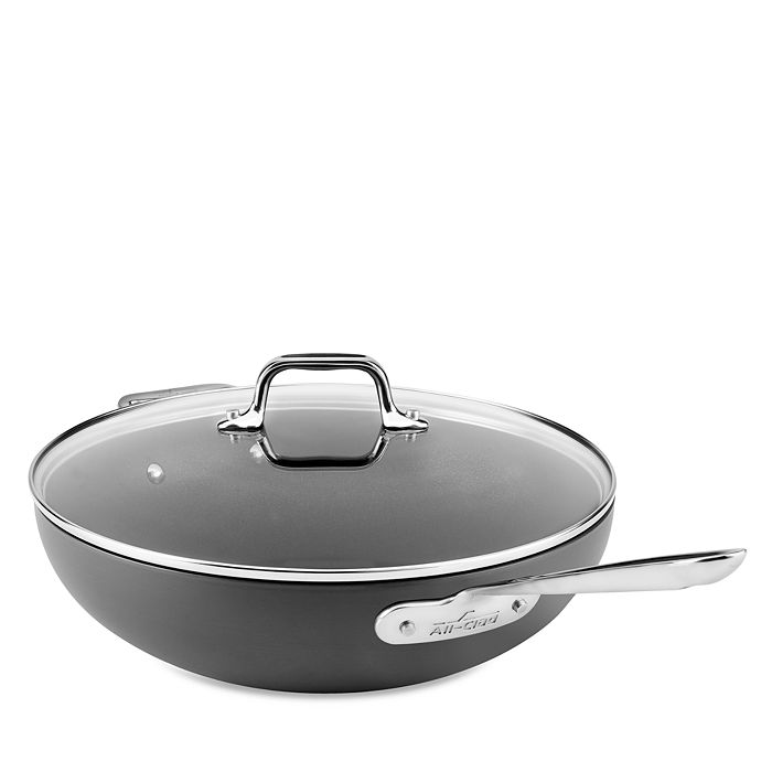 "All-Clad - Hard Anodized Nonstick 12"" Chef's Pan with Lid"