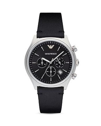 Emporio Armani - Chronograph Leather Strap Watch, 43mm