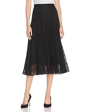 Rebecca Taylor Pleated Lace Skirt