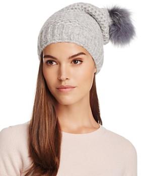 Inverni - Slouchy Beanie with Coyote Fur Pom-Pom - 100% Exclusive