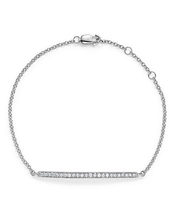 Bloomingdale's - Diamond Bar Bracelet in 14K White Gold, .25 ct. t.w. - 100% Exclusive