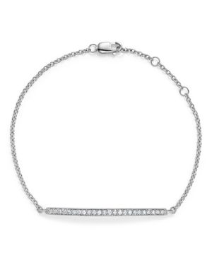 Diamond Bar Bracelet in 14K White Gold, .25 ct. t.w.