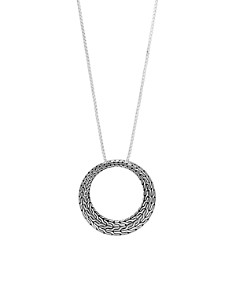 """John Hardy Sterling Silver Classic Chain Large Round Pendant Necklace, 36"""" - Bloomingdale's_0"""