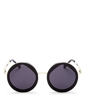 Le Specs Luxe - Women's Hey Yeh Round Sunglasses, 50mm