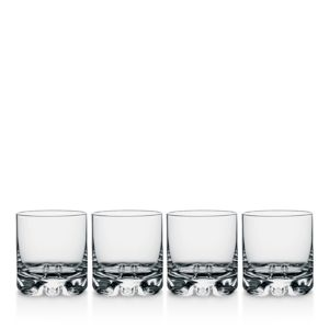Orrefors Erik Double Old Fashioned Glass, Set of 4