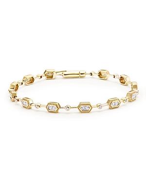 Diamond Geometric Bracelet in 14K Yellow Gold, .33 ct. t.w. - 100% Exclusive